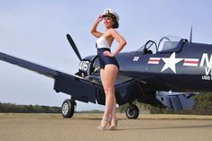 Tech Discover style Navy pin-up girl posing with a vintage Corsair aircraft - PinUp Girls Pin Up Girls Military Pins Air Festival Airplane Art Pin Up Photography Airplane Photography Pin Up Models Us Air Force Nose Art Pin Up Girls, Pin Up Girl Vintage, Vintage Pins, Lake Pictures, Air Festival, Pin Up Photography, Airplane Photography, Photography Editing, Portrait Photography
