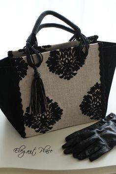 amazing sewing Stylish Handbags, Purses And Handbags, Drawstring Bag Diy, Ethno Style, Handmade Handbags, Jute Bags, Denim Bag, Vintage Purses, Fabric Bags