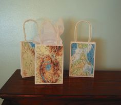 small world map gift bags could be used for filler marks retirement party pinterest