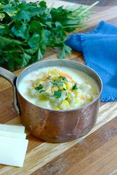 Vegetable Leek Cheese Chowder using Cabot Cheddar