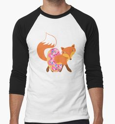 Fox and doughnut. • My orange fox loves donuts. • Also buy this artwork on apparel, stickers, phone cases, and more.