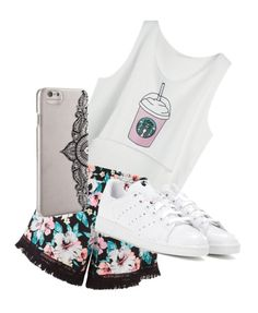 """Coffee day with bestirs"" by s-dejesus on Polyvore featuring New Look, adidas and Nanette Lepore"
