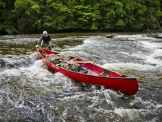 Skills: When To Tie In Gear  Frost River Waxed Canvas Canoe Packs in action with Cliff Jacobson, courtesy Family Camping & Canoeroots Magazine