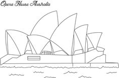 Sydney operah house coloring pages | Opera house sydney coloring page for kids