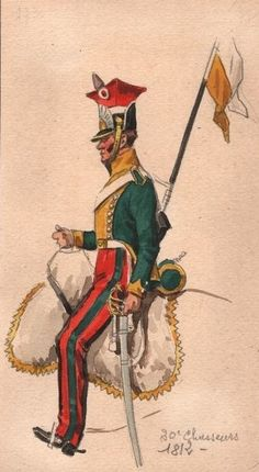 Chasseurs a Lancers Military Art, Military History, Military Uniforms, Napoleonic Wars, Troops, Soldiers, France, Pictures, Painting