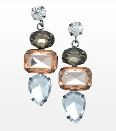 Accessorize your evening look with these stone pendant earrings! Style Wish, Holiday Wishes, Pendant Earrings, Stone Pendants, Beautiful Outfits, Gems, Jewels, Bling Bling, Couture