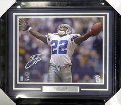 Emmitt Smith Autographed Framed 16x20 Photo Dallas Cowboys PSA/DNA Stock #107935