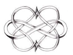 Infinity hearts. Interesting twist to the design.