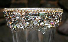 Bejeweled Vintage Rhinestones Chalice Candle by ASoulfulJourney, $200.00