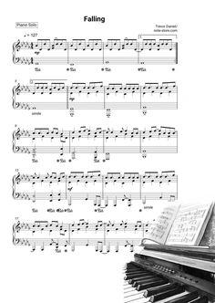 Ноты Trevor Daniel - Falling - Пианино.Соло Piano Music, Sheet Music, Notes, Piano, Report Cards, Music Sheets