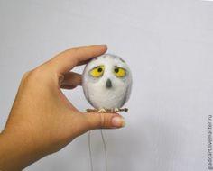 Купить Елочная игрушка Белая Полярная Сова - белый, сова, сова игрушка, елочные игрушки
