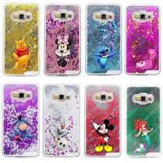 Glitter Star Liquid Cheshire Cat Cartoon Characters Transparent Hard Protective Cover Case for Samsung Galaxy A3/A5/A7