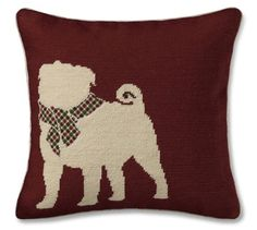 dog silhouette pillows