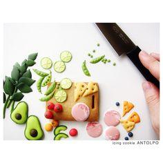 野菜アイシング+クッキー