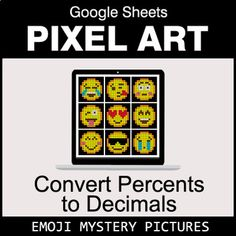 Digital Pixel Art Mystery Pictures with GOOGLE Sheets™. Your students will have fun answering questions to reveal secret pictures. Students solve the problems and type their answers in Column B. If answers are correct, the pixel art image will appear pixel by pixel here. Features of using Digital P... Adding Decimals, Multiplying Fractions, Adding And Subtracting, Dividing Fractions, Equivalent Fractions, Multiplication, Math Division, Long Division, Math Graphic Organizers