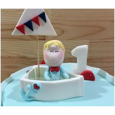 Fondant sailor cake topper