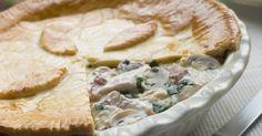 Recette de Tourte au poulet, béchamel et champignons. Facile et rapide à réaliser, goûteuse et diététique. Ingrédients, préparation et recettes associées.