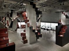Shoes Store Interior Design by Nendo in Japan