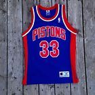 For Sale - Authentic Procut Detroit Pistons Grant Hill Stitched Champion Jersey Sewn 40 #33 - See More At http://sprtz.us/PistonsEBay