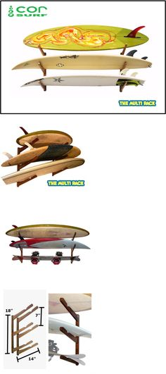 Storage and Display Racks 159164: Cor Multi Surfboard Wall Rack, Wood Rack For Surf, Snow, Wake, Kite, Skis,*New* -> BUY IT NOW ONLY: $53.95 on eBay!