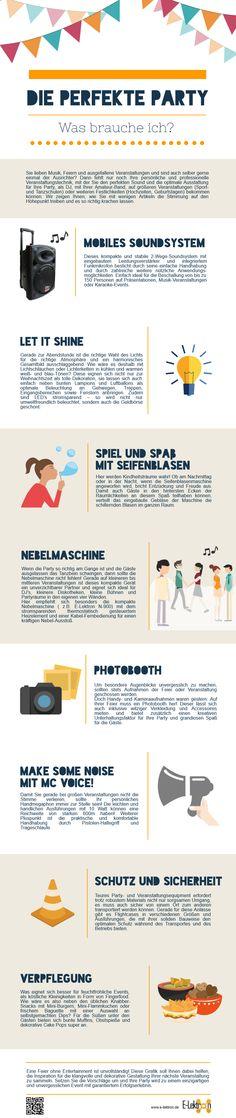 Eine #Party selber zu organisieren ist gar nicht so schwer! Diese #Infografik zeigt, wie es geht :)