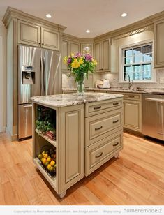 Traditional Antique White Kitchen Welcome! This photo gallery has pictures of kitchens featuring cream or antique white kitchen cabinets in traditional styles Tags ; White Kitchen Cabinets, Kitchen Redo, Kitchen Ideas, Kitchen Cabinetry, Island Kitchen, Small Kitchen Islands, Cream Cabinets, Kitchen Storage, Kitchen Shelves