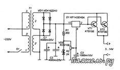 Схема мощного лабораторного источника питания Linux Kernel, Electronic Schematics, Diagram, Linux