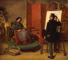 """""""The Sleeping Model"""", 1853, by William Powell Frith (British, 1819-1909)."""