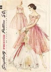 1950's Simplicity Evening Dress Pattern
