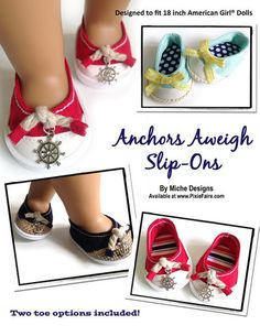 Miche Designs Anchors Aweigh Doll Clothes Pattern 18 inch American Girl Dolls | Pixie Faire