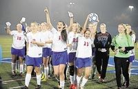 The Goshen girls varsity soccer team defeated Saugerties to capture the Section 9 championship on Oct. 31.