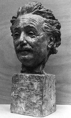 Albert Einstein  portrait bust