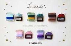 お裁縫道具のブローチセット ★ 5 COLORS