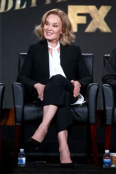 Jessica Lange of the television show 'Feud' speaks onstage during the FX portion of the 2017 Winter Television Critics Association Press Tour at Langham Hotel on January 12, 2017 in Pasadena, California - 2017 Winter TCA Tour - Day 8
