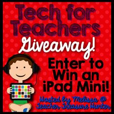 20 teachers have teamed up to buy an iPad mini for a giveaway. August 1-9, 2014. The giveaway is open to teachers (classroom and homeschool) who are living in the contiguous United States. The winning entry will be verified and proof of eligibility may be required. Please see the terms and conditions for more information.