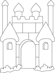 Medieval castle coloring pages.filler for VBS. probably preschool Castle Coloring Page, Colouring Pages, Printable Coloring Pages, Coloring Pages For Kids, Coloring Sheets, Coloring Books, Disney Princess Castle, Knight Party, Vbs Crafts