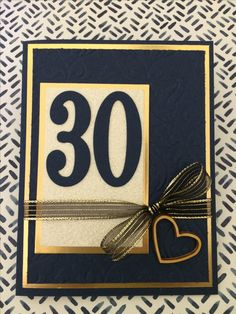 30th Anniversary Pearl and Stampin up paper