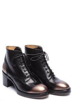 9bc4c7c70657f5 Buffalo leather heel ankle boot from Officine Creative. A round toe