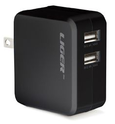 [UL Certified] Liger 4.8A 24W Dual Port USB Travel Wall Charger SmartID Technology, Foldable AC Plug for Apple iPhone 6 Plus to 4S; Samsung Galaxy, S6 to S3, Note 3, 2; iPads; iPods,usb compatible #tech #liger See detail at http://zingxoom.com/d/cwHHJ8hM