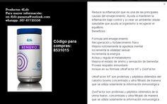 Renuvo® Renuvo es el productor anti-envejecimiento de 4Life. Su fórmula está orientada al fortalecimiento general del cuerpo basado en una nutrición equilibrada.  Renuvo se enfoca principalmente en mantener la respuesta natural inflamatoria bajo control al mismo tiempo que incrementa las defensas naturales.