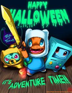 Pokemon and Adventure Time! Happy Halloween!!