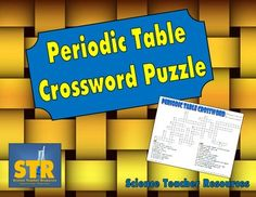 This printable crossword puzzle covers many different aspects of the Periodic Table of Elements, including chemical symbols, periods, families/groups, atomic number, mass number, metals, nonmetals, and metalloids. $