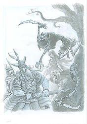 Original: Crónicas de Gaidil #11. Original realizado en 2007, para el libro de rol Crónicas de Gaidil. Puedes comprarlo en www.victorrivasillustration.com