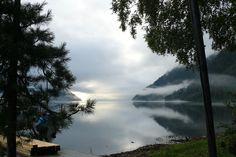 Туман на Телецком озере