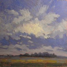 Morning+Skies+and+Cornfields+Daily+Oil+Painting+Heidi+Malott,+painting+by+artist+Heidi+Malott
