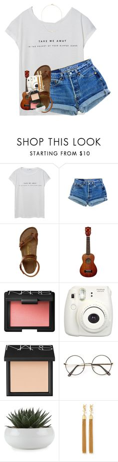 """""""clearing out some old drafts"""" by lindsaygreys ❤ liked on Polyvore featuring MANGO, Birkenstock, NARS Cosmetics, Fujifilm, Yves Saint Laurent and Sole Society"""