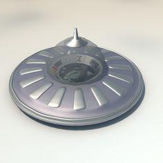 3d model flying saucer spacecraft spaceship