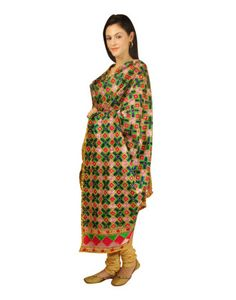 Hand Embroidered Bagh Phulkari Dupatta With Chanderi Suit Chanderi Suits, Phulkari Suit, Wedding Suits, Special Occasion, Pajama Pants, Luxury, Celebrities, Inspiration, Clothes