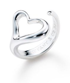 I got this ring instead of a class ring in high school. It's one of my favorites, Tiffany Open Heart Ring