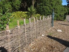 Pine Wattle Fence - idea for container gardening and raised beds